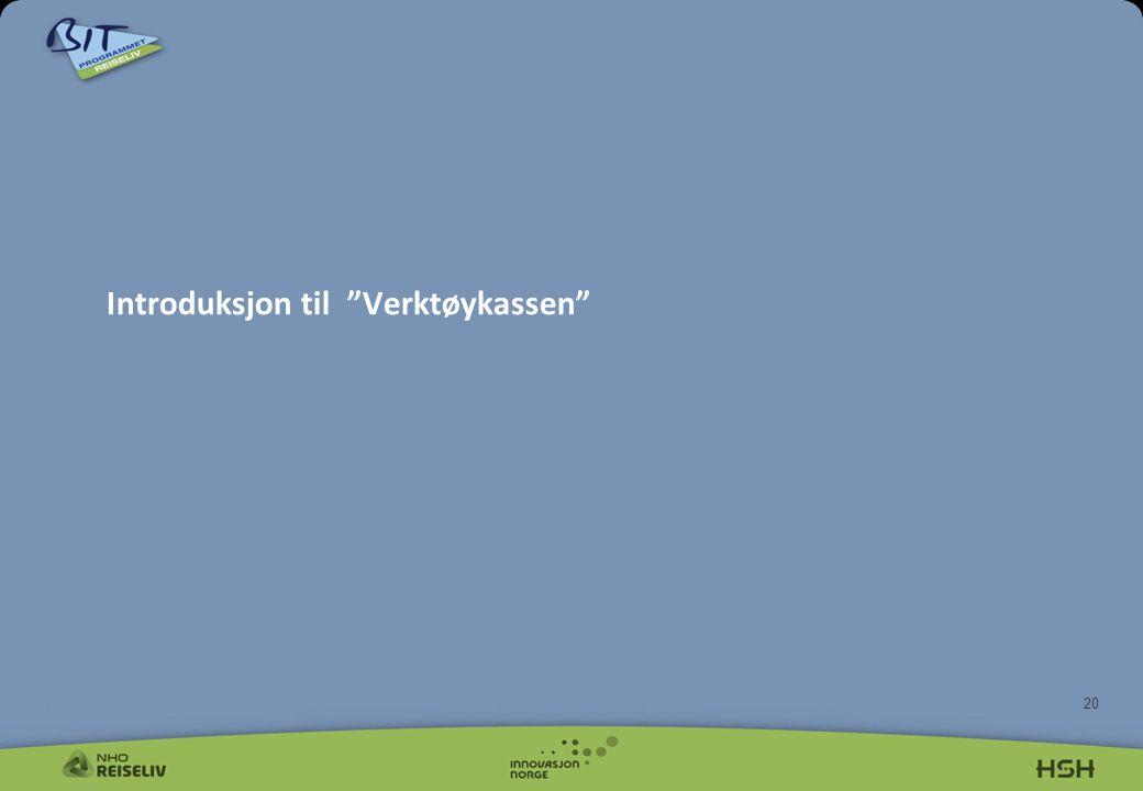 Introduksjon til Verktøykassen