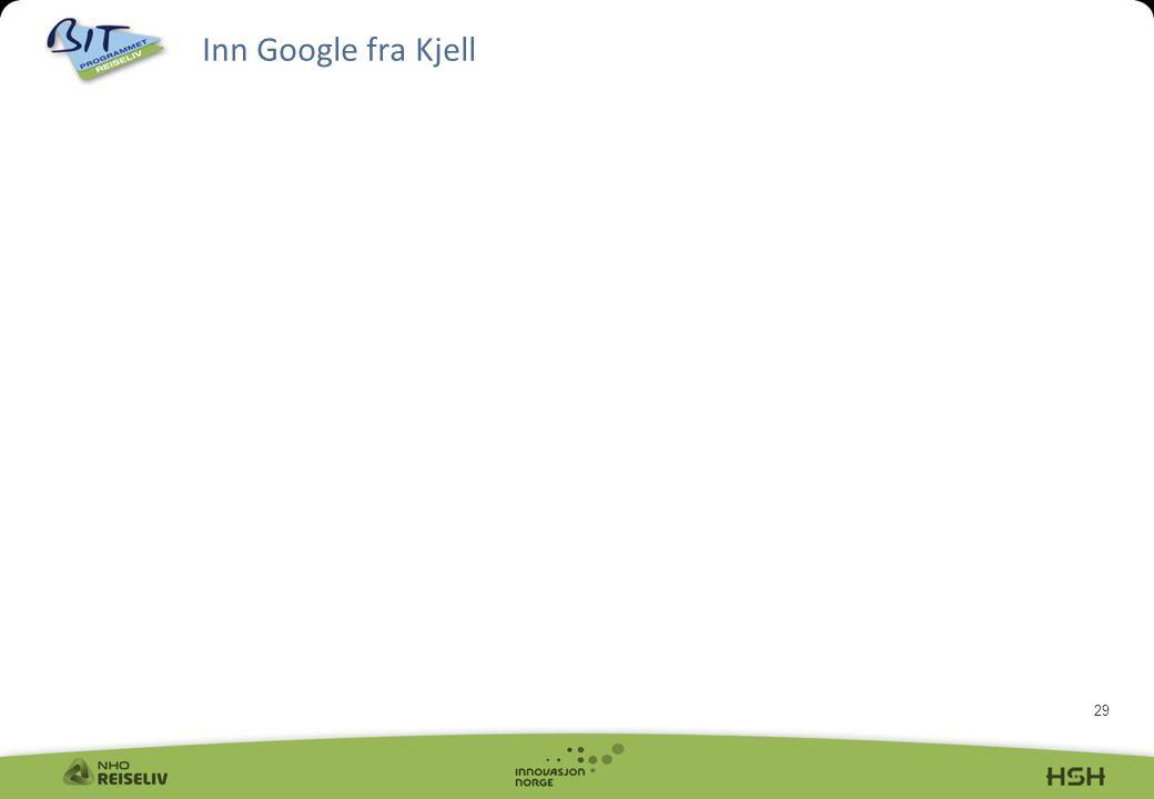 Inn Google fra Kjell