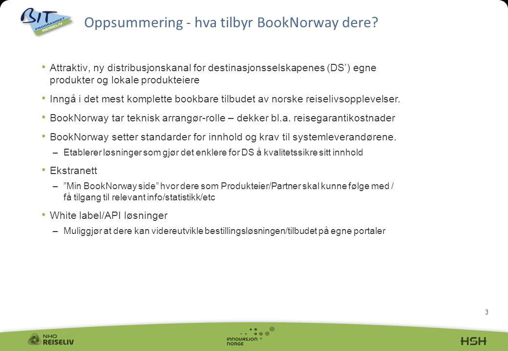 Oppsummering - hva tilbyr BookNorway dere