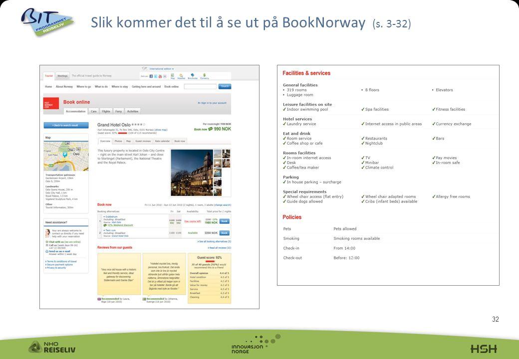 Slik kommer det til å se ut på BookNorway (s. 3-32)