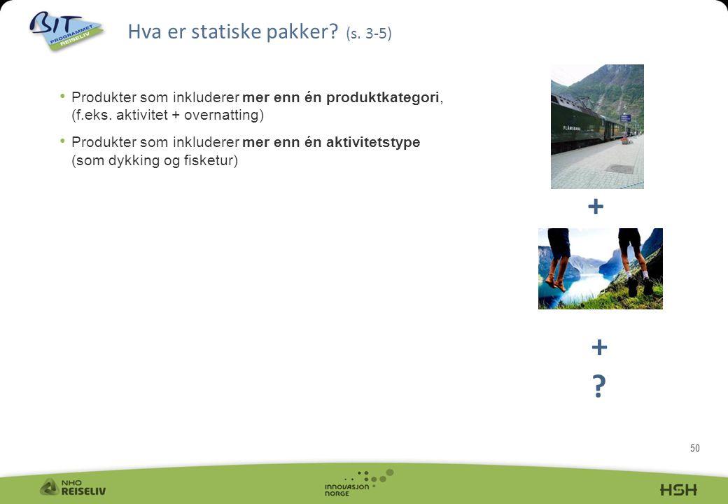 Hva er statiske pakker (s. 3-5)