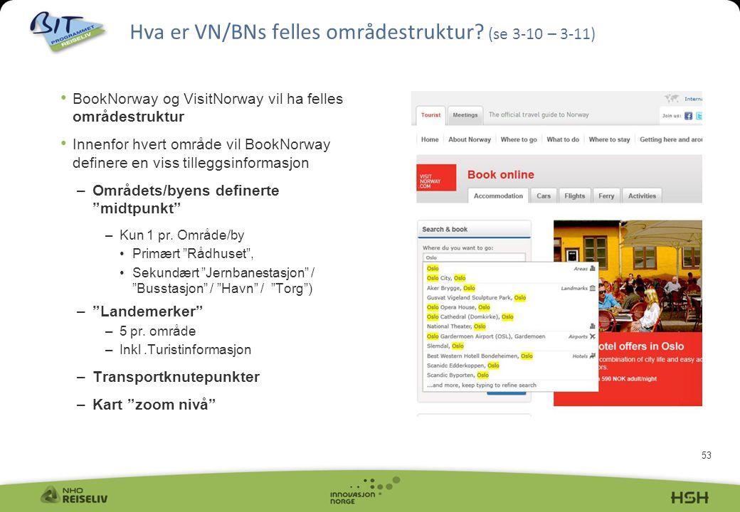 Hva er VN/BNs felles områdestruktur (se 3-10 – 3-11)