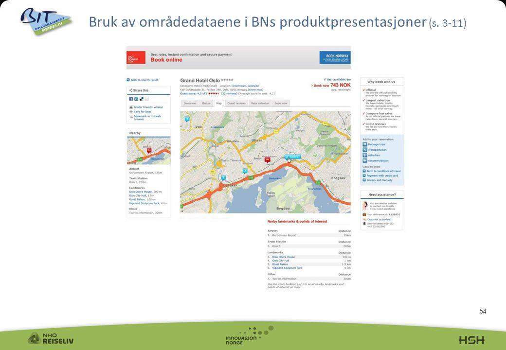 Bruk av områdedataene i BNs produktpresentasjoner (s. 3-11)