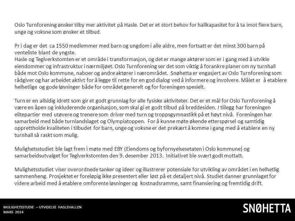 Oslo Turnforening ønsker tilby mer aktivitet på Hasle