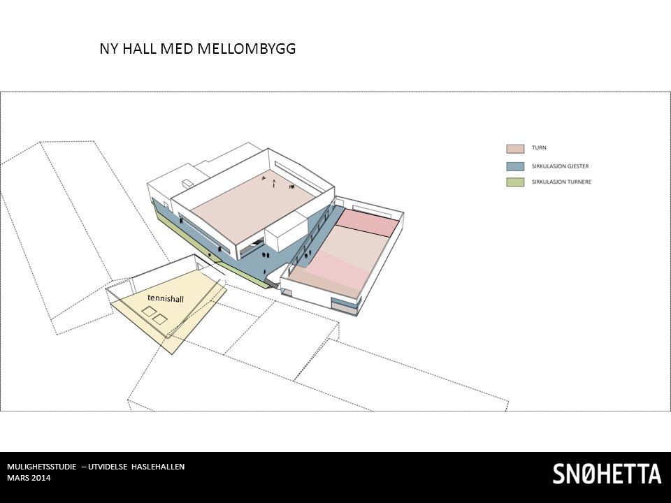 NY HALL MED MELLOMBYGG tennishall