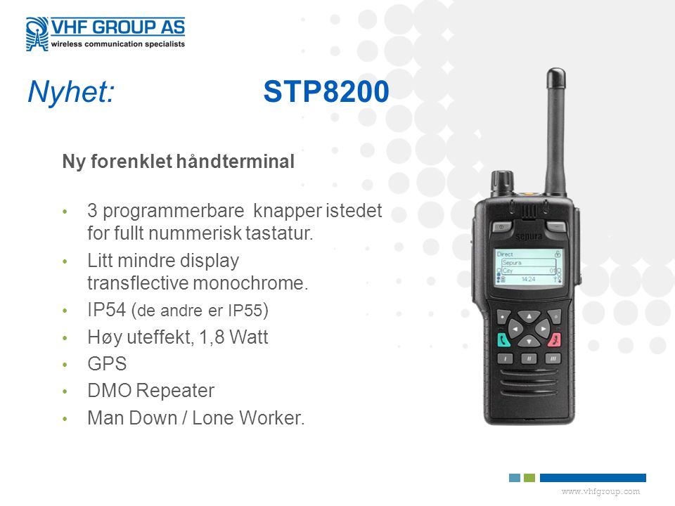 Nyhet: STP8200 Ny forenklet håndterminal