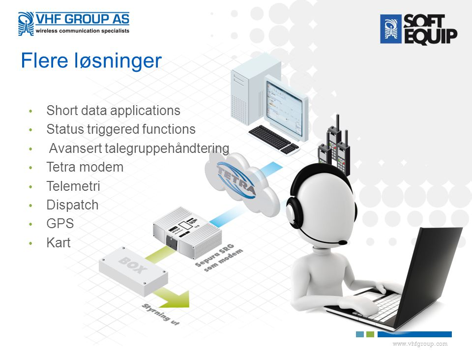 Flere løsninger Short data applications Status triggered functions
