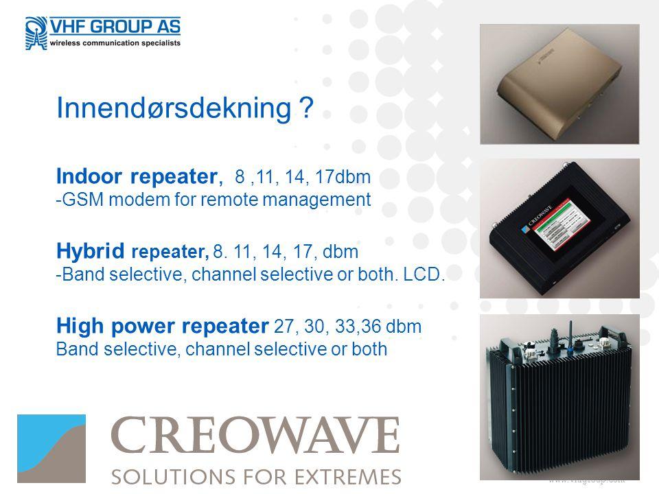 Innendørsdekning Indoor repeater, 8 ,11, 14, 17dbm