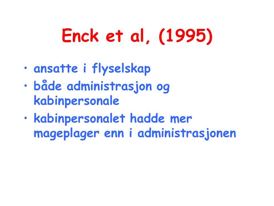 Enck et al, (1995) ansatte i flyselskap