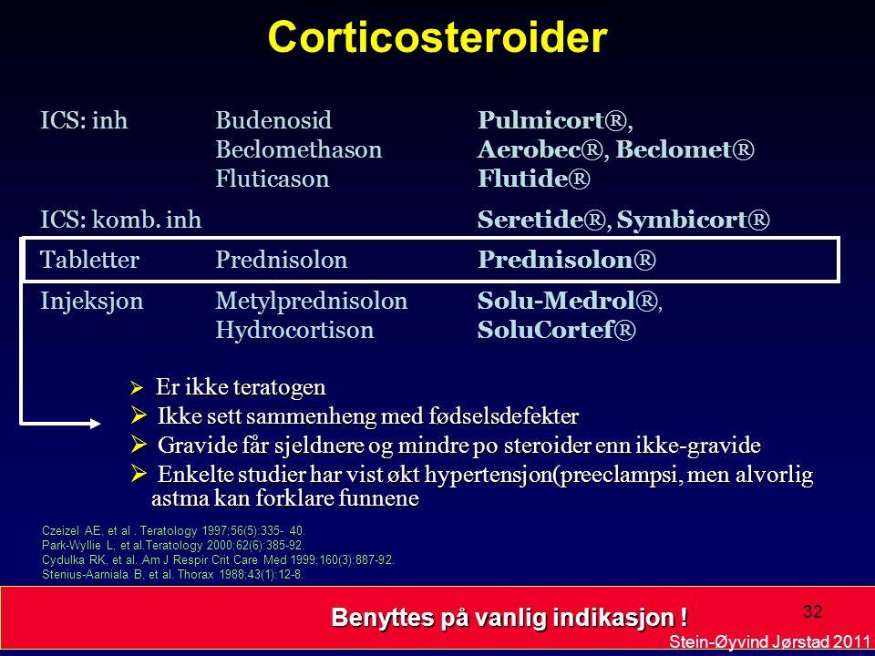Corticosteroider ICS: inh Budenosid Pulmicort®,