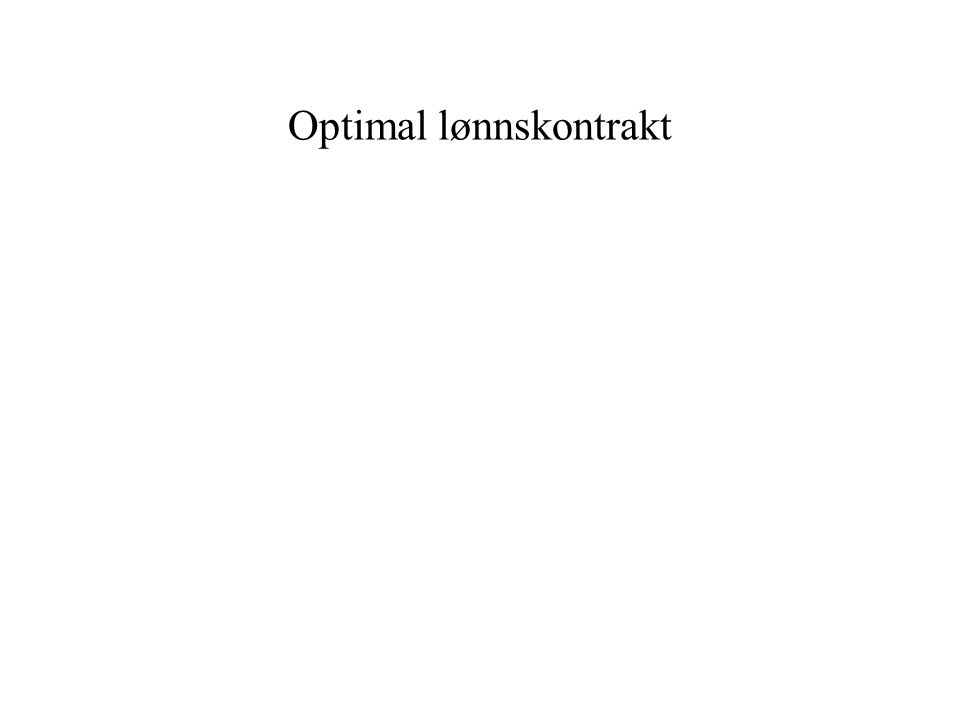 Optimal lønnskontrakt