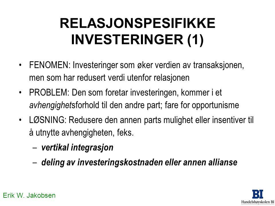 RELASJONSPESIFIKKE INVESTERINGER (1)