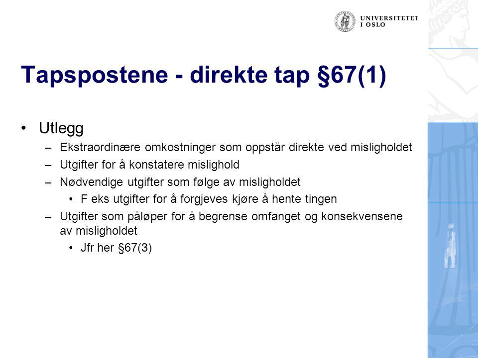 Tapspostene - direkte tap §67(1)