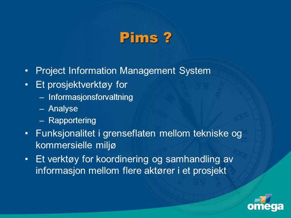 Pims Project Information Management System Et prosjektverktøy for