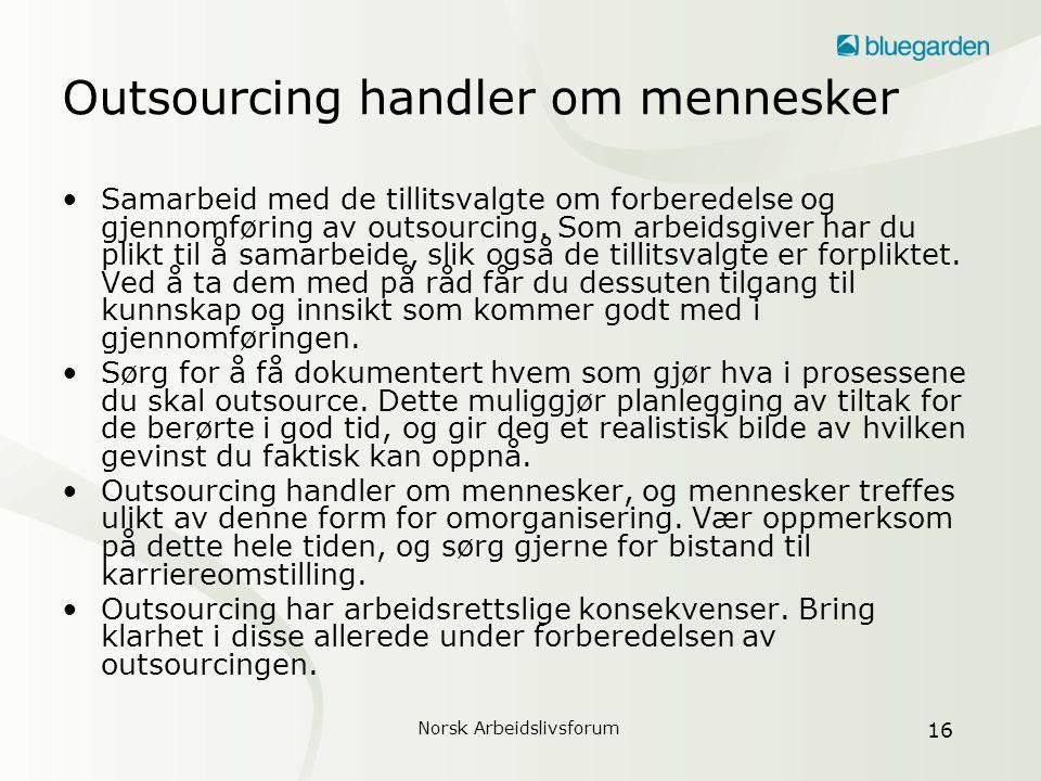 Outsourcing handler om mennesker
