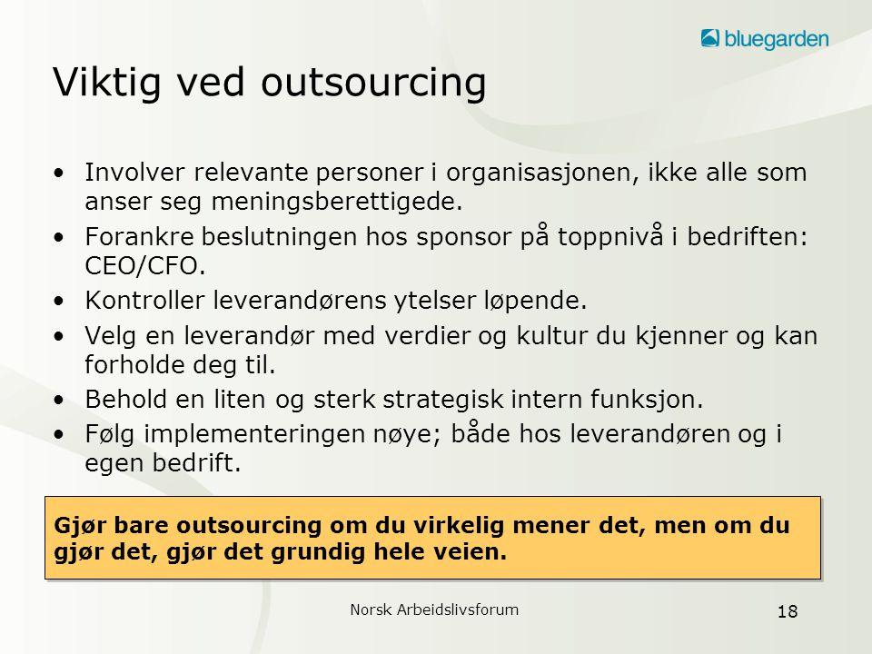 Viktig ved outsourcing