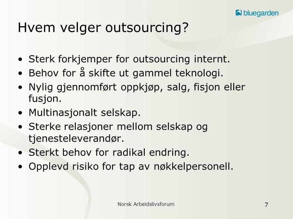 Hvem velger outsourcing