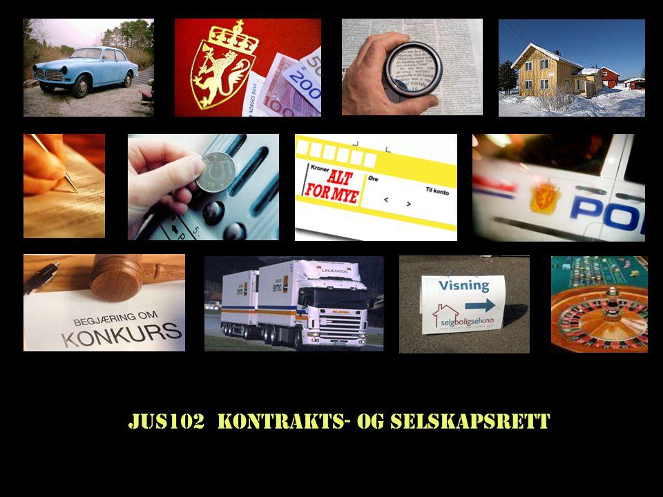 JUS102 Kontrakts- og selskapsrett
