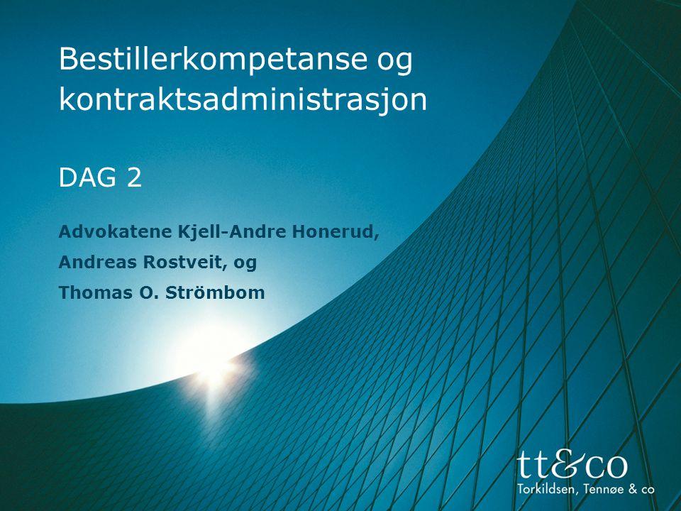 Bestillerkompetanse og kontraktsadministrasjon