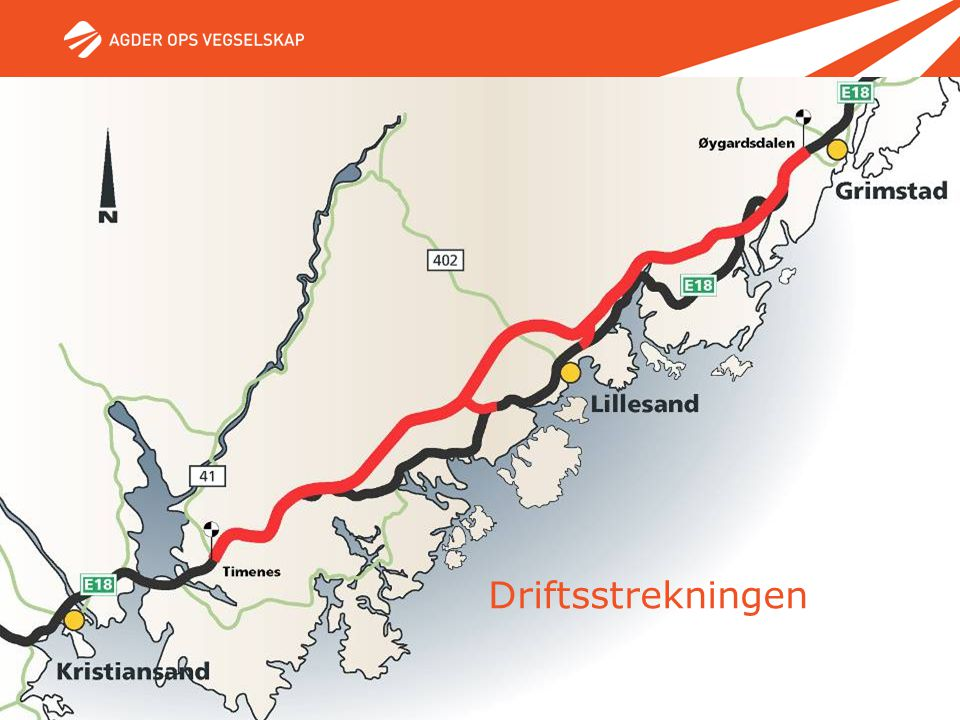 Driftsstrekningen Øygardsdalen - Timenes