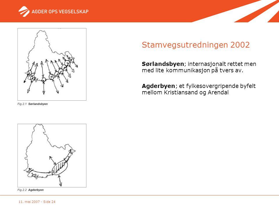 Stamvegsutredningen 2002 Sørlandsbyen; internasjonalt rettet men med lite kommunikasjon på tvers av.