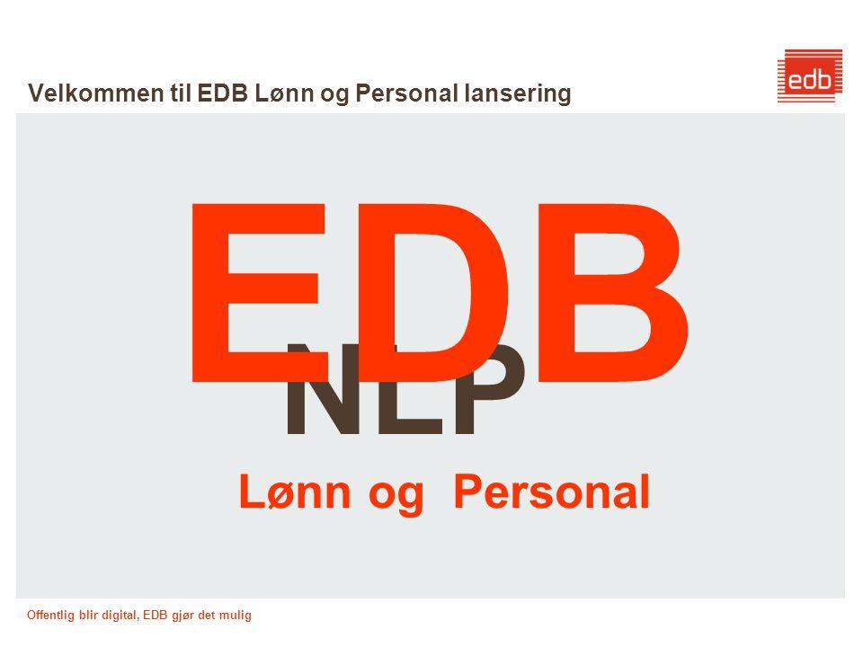 Velkommen til EDB Lønn og Personal lansering