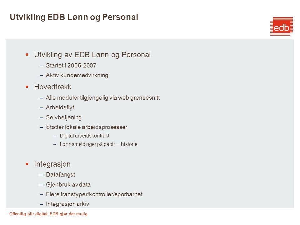 Utvikling EDB Lønn og Personal
