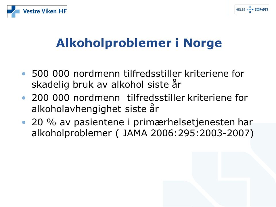 Alkoholproblemer i Norge