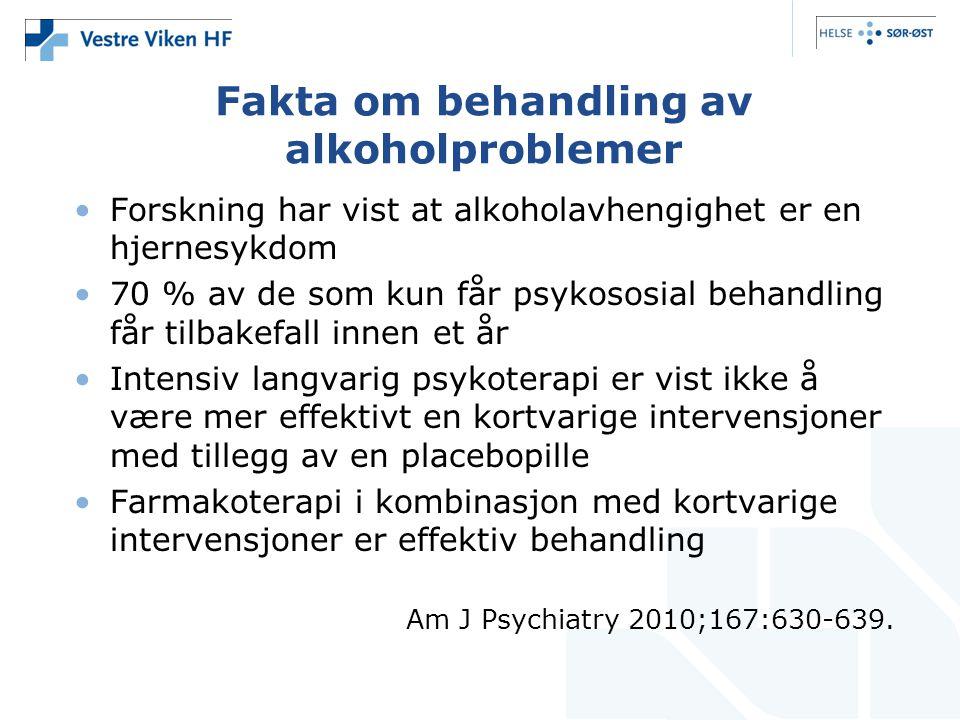 Fakta om behandling av alkoholproblemer