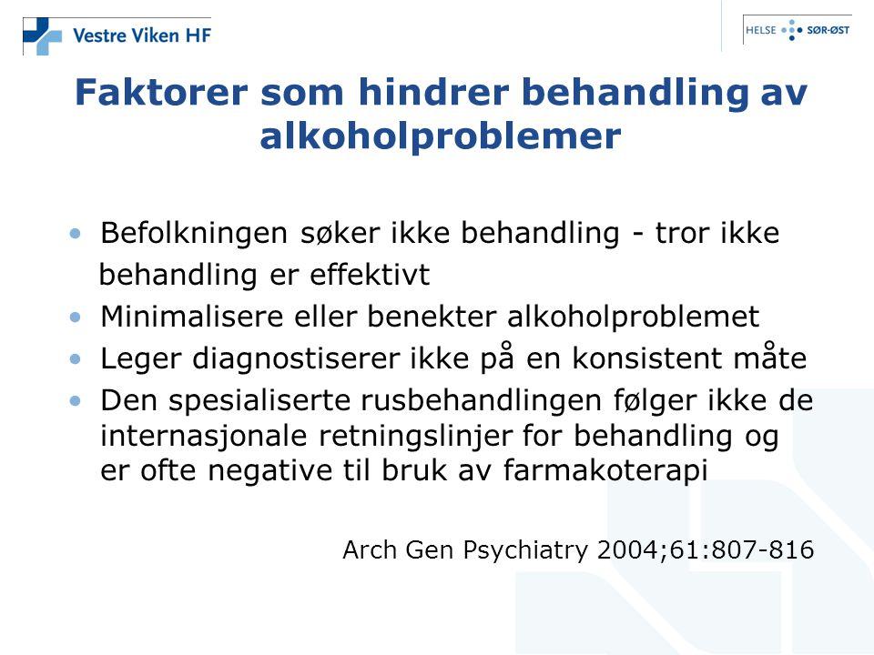 Faktorer som hindrer behandling av alkoholproblemer
