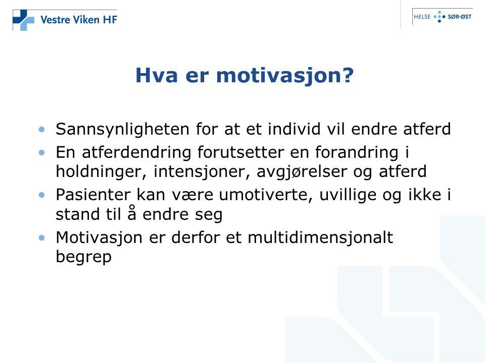 Hva er motivasjon Sannsynligheten for at et individ vil endre atferd
