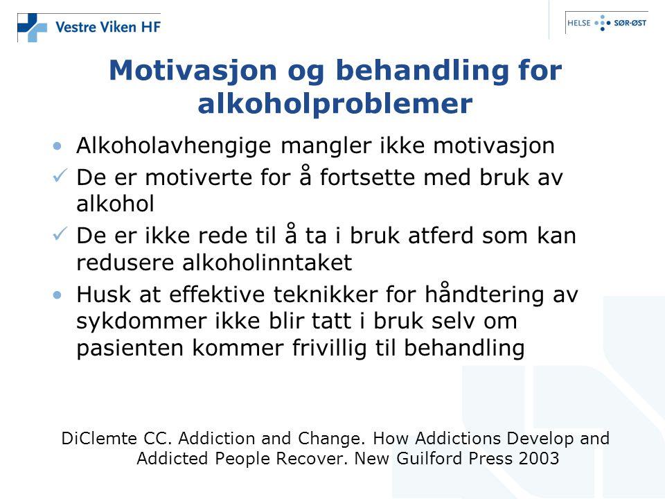 Motivasjon og behandling for alkoholproblemer