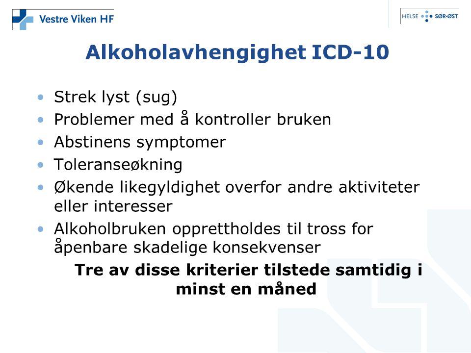 Alkoholavhengighet ICD-10