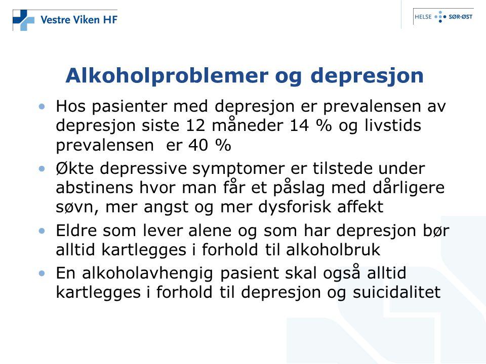 Alkoholproblemer og depresjon