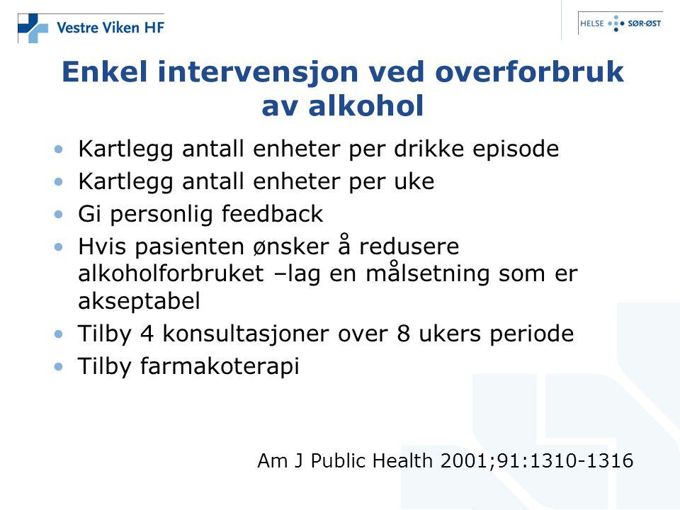 Enkel intervensjon ved overforbruk av alkohol