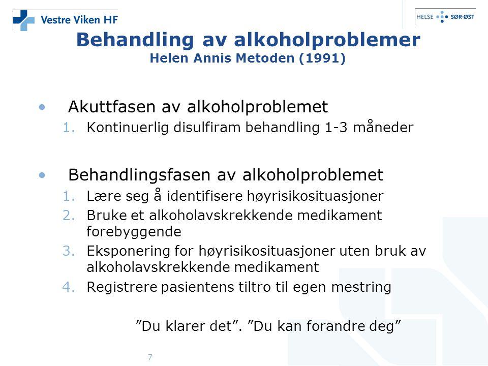 Behandling av alkoholproblemer Helen Annis Metoden (1991)