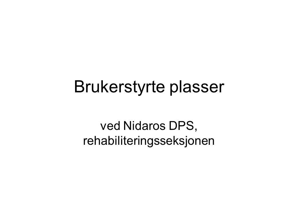 ved Nidaros DPS, rehabiliteringsseksjonen