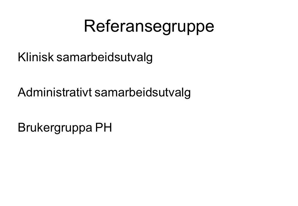 Referansegruppe Klinisk samarbeidsutvalg