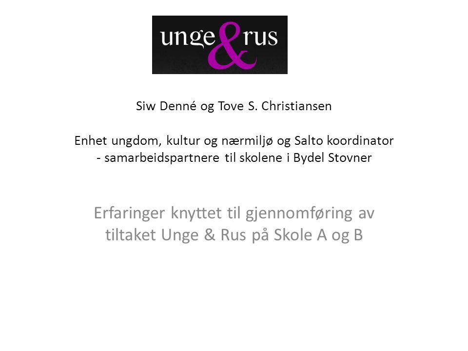 Siw Denné og Tove S. Christiansen Enhet ungdom, kultur og nærmiljø og Salto koordinator - samarbeidspartnere til skolene i Bydel Stovner
