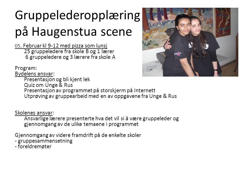 Gruppelederopplæring på Haugenstua scene