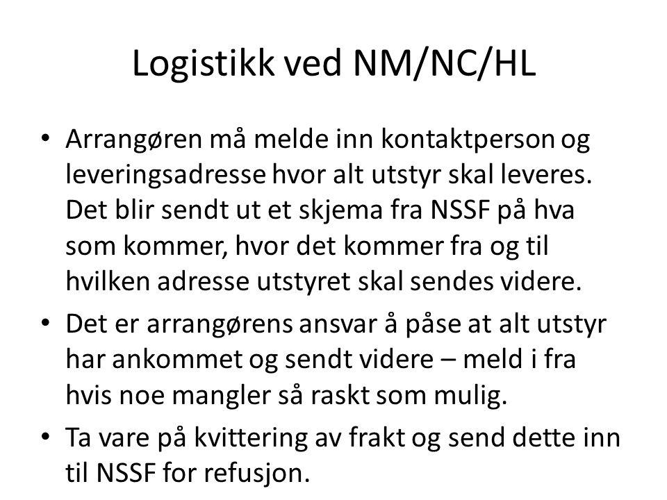 Logistikk ved NM/NC/HL