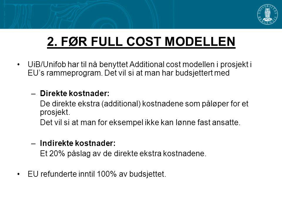 2. FØR FULL COST MODELLEN