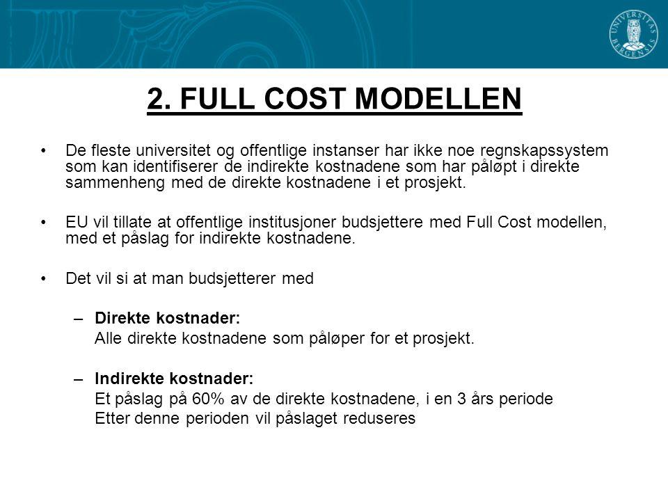 2. FULL COST MODELLEN