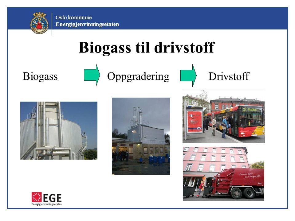 Biogass til drivstoff Biogass Oppgradering Drivstoff Helge Heier: