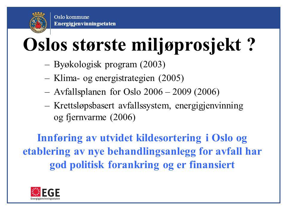 Oslos største miljøprosjekt