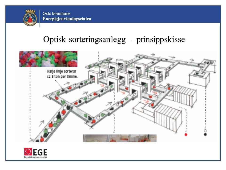 Optisk sorteringsanlegg - prinsippskisse
