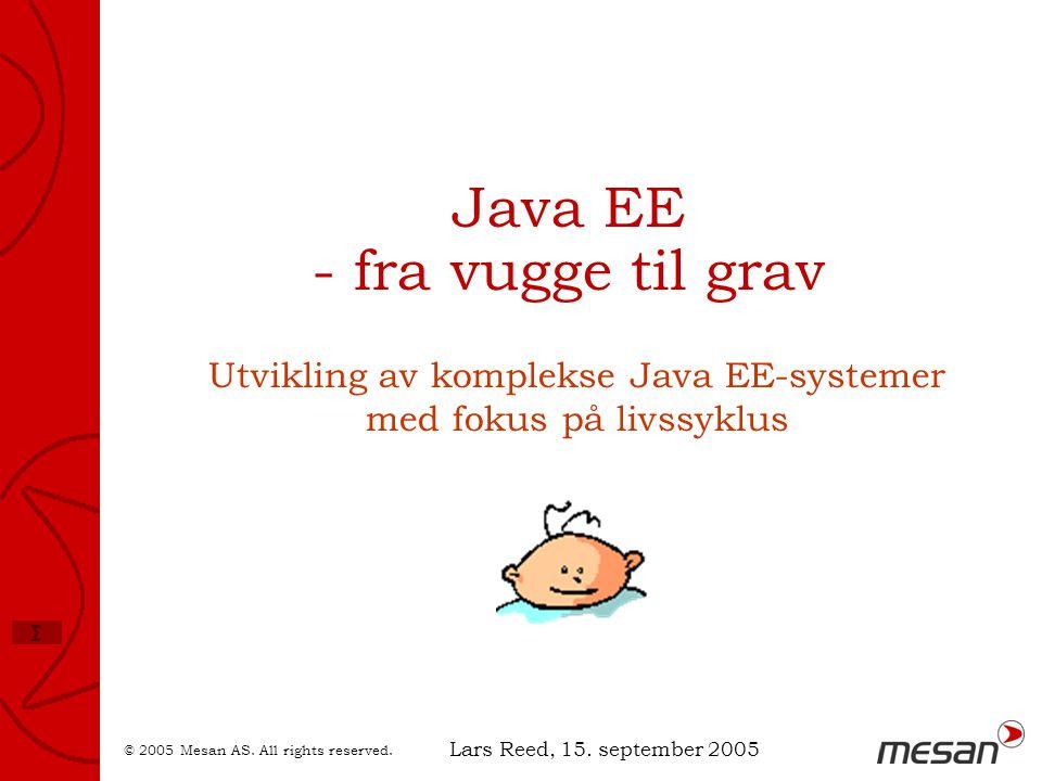Java EE - fra vugge til grav