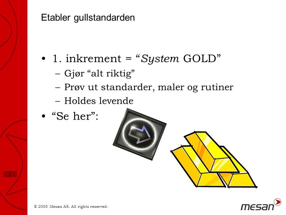 Etabler gullstandarden