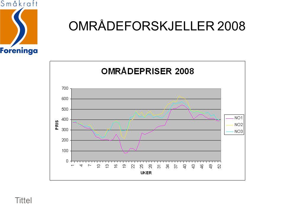 OMRÅDEFORSKJELLER 2008 Tittel