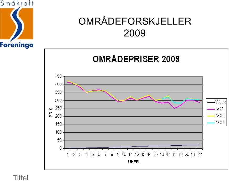 OMRÅDEFORSKJELLER 2009 Tittel